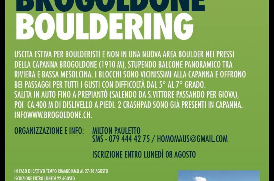 Evento bouldering brogoldrone