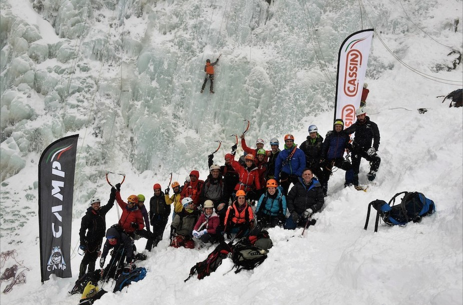 Cassin ice climbing test days 1