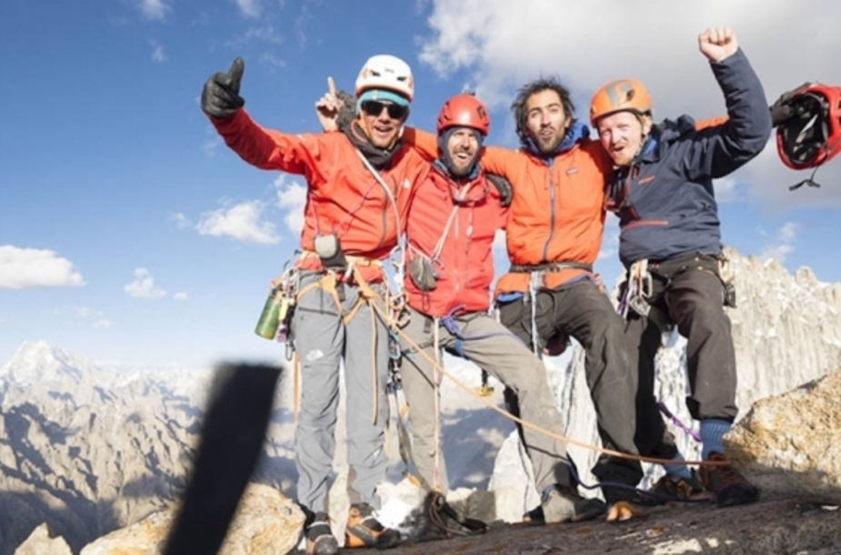 Nicolas Favresse and Co. open two new routes on two never climbed mountains in Pakistan
